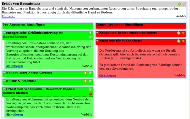 A screenshot of SimpleDebate